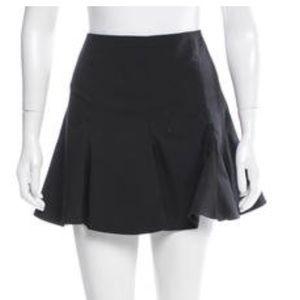 Karl by Karl Lagerfeld black flounce skirt